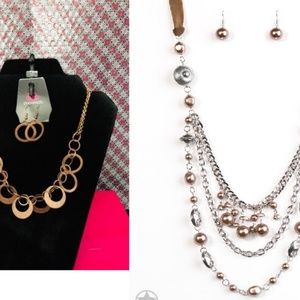 Paparazzi necklace with matching earrings two set